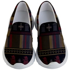 Tardis Doctor Who Ugly Holiday Kid s Lightweight Slip Ons