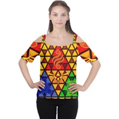 The Triforce Stained Glass Cutout Shoulder Tee
