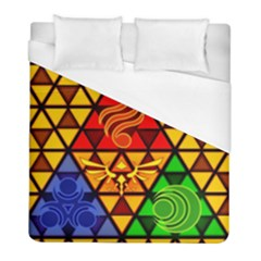 The Triforce Stained Glass Duvet Cover (full/ Double Size)