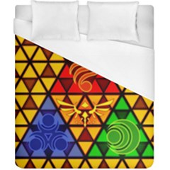 The Triforce Stained Glass Duvet Cover (california King Size) by Samandel