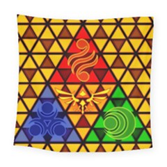 The Triforce Stained Glass Square Tapestry (large)