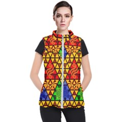 The Triforce Stained Glass Women s Puffer Vest