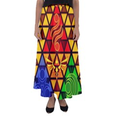 The Triforce Stained Glass Flared Maxi Skirt
