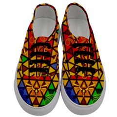 The Triforce Stained Glass Men s Classic Low Top Sneakers