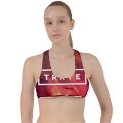 Trxye Galaxy Nebula Criss Cross Racerback Sports Bra