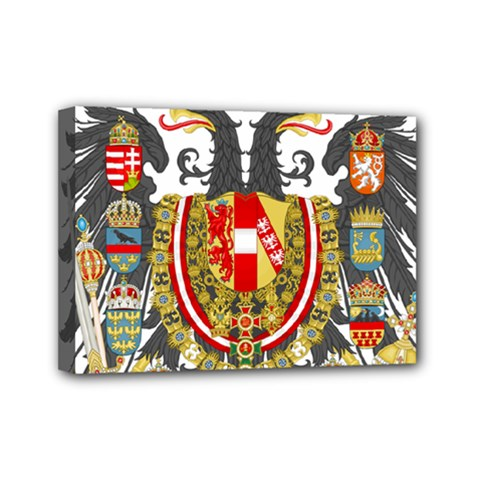 Imperial Coat Of Arms Of Austria Hungary  Mini Canvas 7  X 5