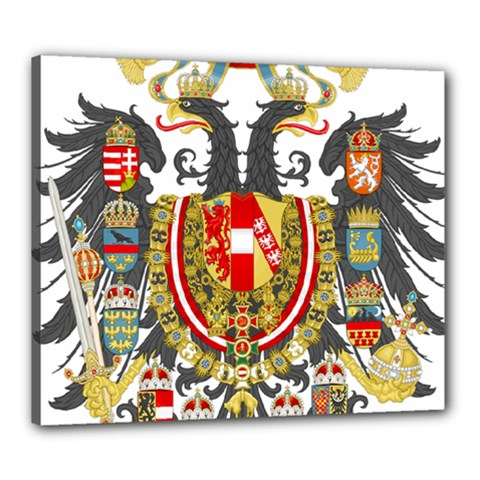 Imperial Coat Of Arms Of Austria Hungary  Canvas 24  X 20