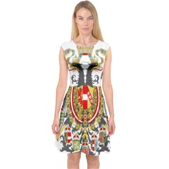 Imperial Coat Of Arms Of Austria Hungary  Capsleeve Midi Dress by abbeyz71