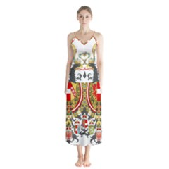 Imperial Coat Of Arms Of Austria Hungary  Button Up Chiffon Maxi Dress
