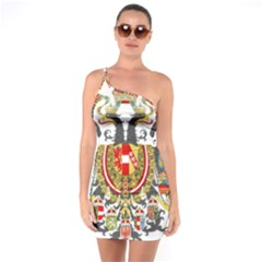 Imperial Coat Of Arms Of Austria Hungary  One Soulder Bodycon Dress
