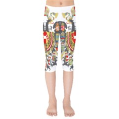 Imperial Coat Of Arms Of Austria Hungary  Kids  Capri Leggings