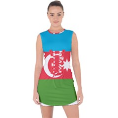 Roundel Of Azerbaijan Air Force Lace Up Front Bodycon Dress