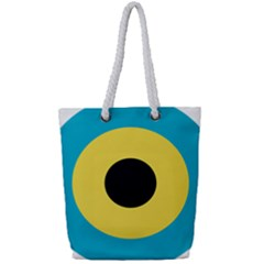 Roundel Of Royal Bahamas Defence Force Air Wing Full Print Rope Handle Tote (small) by abbeyz71