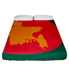 Flag Of Bangladesh, 1971 Fitted Sheet (king Size) by abbeyz71