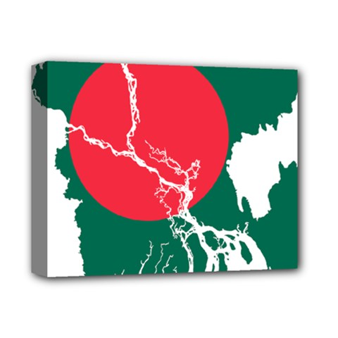 Flag Map Of Bangladesh Deluxe Canvas 14  X 11  by abbeyz71