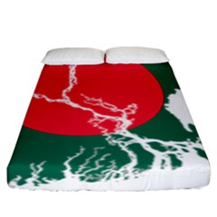 Flag Map Of Bangladesh Fitted Sheet (king Size) by abbeyz71