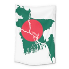 Flag Map Of Bangladesh Small Tapestry by abbeyz71