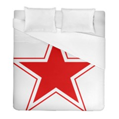 Roundel Of Belarusian Air Force Duvet Cover (full/ Double Size) by abbeyz71