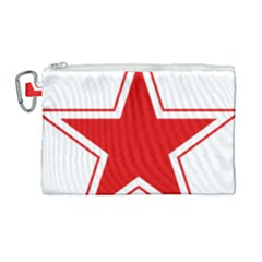 Roundel Of Belarusian Air Force Canvas Cosmetic Bag (large)