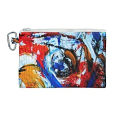 Mixed Feelings 7 Canvas Cosmetic Bag (large)
