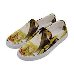 Alligator 3 Women s Canvas Slip Ons by bestdesignintheworld