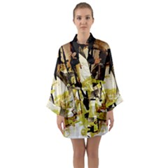 Alligator 3 Long Sleeve Kimono Robe by bestdesignintheworld