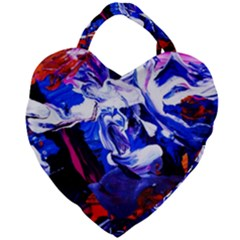 Cabin In The Mountain 1 Giant Heart Shaped Tote by bestdesignintheworld