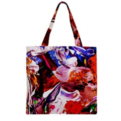 Cabin In The Mountain 2 Zipper Grocery Tote Bag