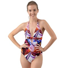 Cabin In The Mountain 2 Halter Cut Out One Piece Swimsuit