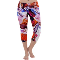Cabin In The Mountain 2 Capri Yoga Leggings
