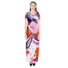 Cabin In The Mountain 2 Short Sleeve Maxi Dress