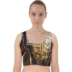 Ceramics Of Ancient Land 8 Velvet Racer Back Crop Top by bestdesignintheworld