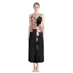 Highland Park 5 Button Up Chiffon Maxi Dress