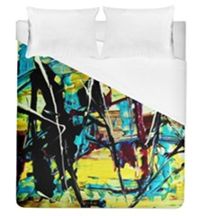 Dance Of Oil Towers 3 Duvet Cover (queen Size) by bestdesignintheworld