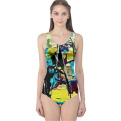 Dance Of Oil Towers 3 One Piece Swimsuit by bestdesignintheworld