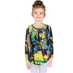 Dance Of Oil Towers 3 Kids  Long Sleeve Tee by bestdesignintheworld