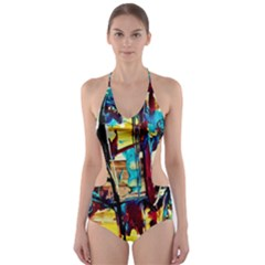 Dance Of Oil Towers 4 Cut Out One Piece Swimsuit by bestdesignintheworld
