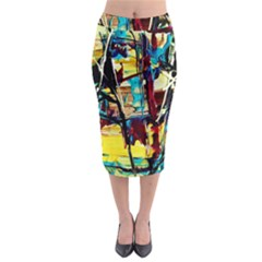 Dance Of Oil Towers 4 Midi Pencil Skirt by bestdesignintheworld