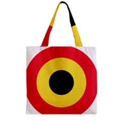 Roundel Of Belgian Air Force Grocery Tote Bag by abbeyz71