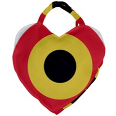Roundel Of Belgian Air Force Giant Heart Shaped Tote