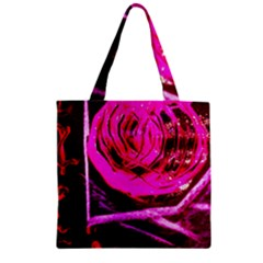 Calligraphy 2 Zipper Grocery Tote Bag by bestdesignintheworld