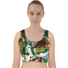Doves Matchmaking 1 Velvet Racer Back Crop Top