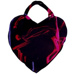 Calligraphy 4 Giant Heart Shaped Tote
