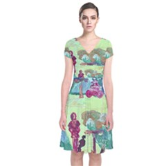 Trail 1 Short Sleeve Front Wrap Dress