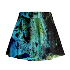 Blue Options 6 Mini Flare Skirt by bestdesignintheworld