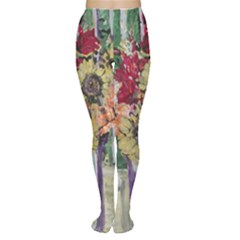 Sunflowers And Lamp Women s Tights by bestdesignintheworld