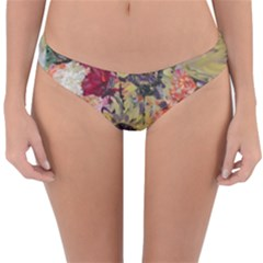 Sunflowers And Lamp Reversible Hipster Bikini Bottoms