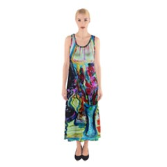 Still Life With Two Lamps Sleeveless Maxi Dress by bestdesignintheworld