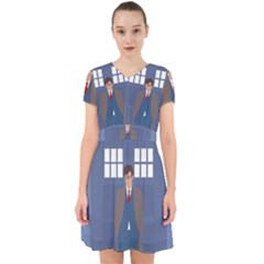 Tenth Doctor And His Tardis Adorable In Chiffon Dress