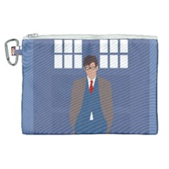 Tenth Doctor And His Tardis Canvas Cosmetic Bag (xl)